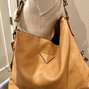 Prada leather shoulder hobo